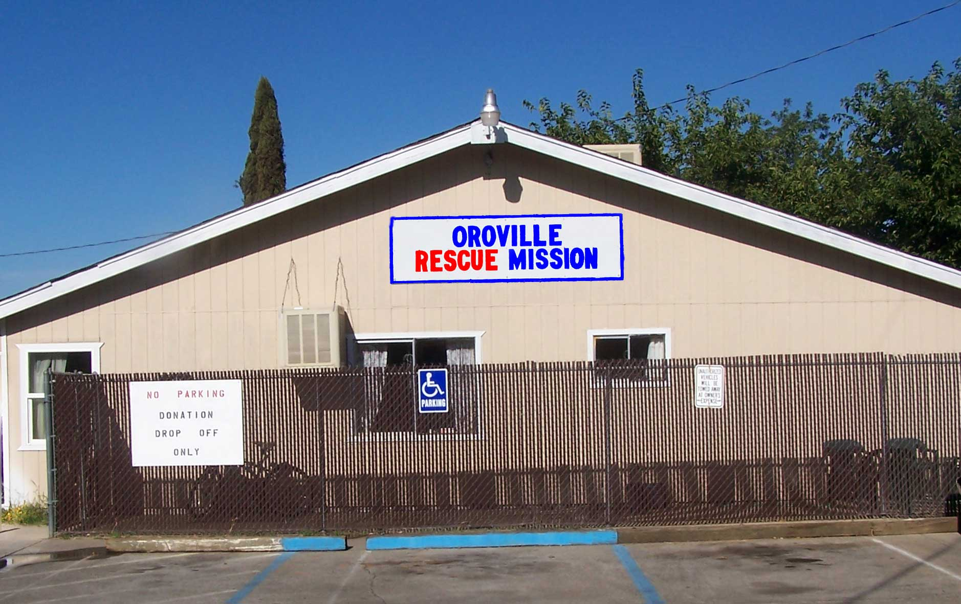 Oroville Rescue Mission Men's Shelter